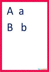 Lettres majuscules et minuscules cursive – Affiches de classe à imprimer : 2eme, 3eme Maternelle, 1ere Primaire