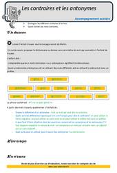 Contraires et les antonymes – Soutien scolaire – Aide aux devoirs : 5eme Primaire