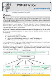 Attribut du sujet – Soutien scolaire – Aide aux devoirs : 5eme Primaire