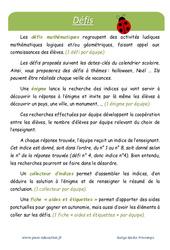 Printemps – Défi maths – Enigmes mathématiques : 3eme Primaire