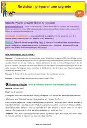 Séquence 1 – Préparer une saynète – Révision – Anglais : 1ere Primaire