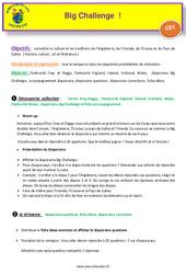 Séquence 4 – Big Challenge – Civilisation – Anglais : 2eme Primaire