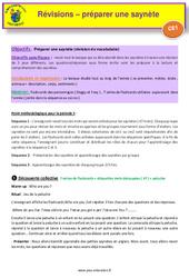 Séquence 1 – Préparation saynètes – révisions – Anglais : 2eme Primaire