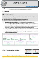 Préfixes et suffixes – Soutien scolaire – Aide aux devoirs : 5eme Primaire