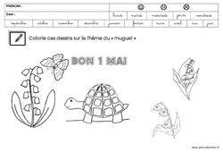Coloriage – Muguet : 3eme Maternelle – Cycle Fondamental