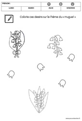 Coloriage – Muguet : 1ere Maternelle – Cycle Fondamental