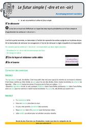 Futur simple en – dre et – oir – Soutien scolaire – Aide aux devoirs : 5eme Primaire