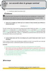 Accords dans le Groupe nominal – Soutien scolaire – Aide aux devoirs : 5eme Primaire
