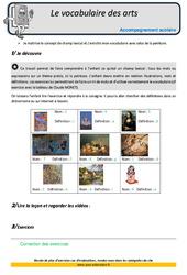 Vocabulaire des arts – Soutien scolaire – Aide aux devoirs : 5eme Primaire