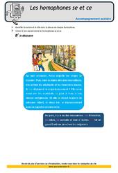Homophones – se et – ce – Soutien scolaire – Aide aux devoirs : 4eme Primaire