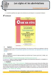 Sigles et abréviations – Soutien scolaire – Aide aux devoirs : 4eme Primaire