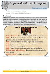 Formation du passé composé – Soutien scolaire – Aide aux devoirs : 4eme Primaire