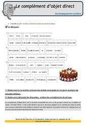 Complément d'objet direct – Soutien scolaire – Aide aux devoirs : 4eme Primaire