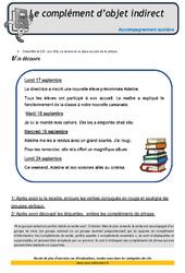 Complément d'objet indirect – Soutien scolaire – Aide aux devoirs : 4eme Primaire