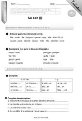 Son [j] – Examen Evaluation – Bilan : 2eme Primaire