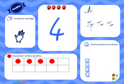 J'apprends à compter – Tableau : 2eme, 3eme Maternelle – Cycle Fondamental