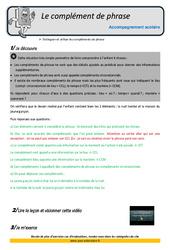 Compléments de phrase – Soutien scolaire – Aide aux devoirs : 5eme Primaire