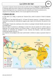 Chine des Han – Cours – Histoire : 6eme Primaire