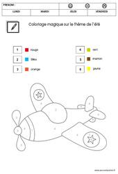 Coloriage magique – été : 2eme Maternelle – Cycle Fondamental