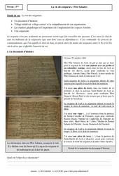 Vie des seigneurs – Etude de cas – Occident féodal : 1ere Secondaire