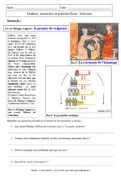 Féodaux, souverains et premiers États – Exercices corrigés : 1ere Secondaire