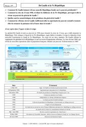 De Gaulle et la Ve République – Cours : 3eme Secondaire