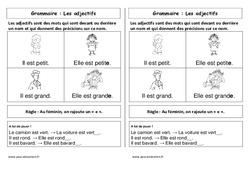 Adjectifs – Cours, Leçon : 1ere Primaire
