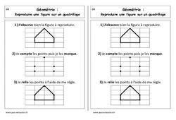 Reproduire une figure sur un quadrillage – Cours, Leçon : 1ere Primaire