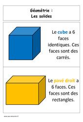 Solides – Affiche pour la classe – Géométrie : 1ere Primaire