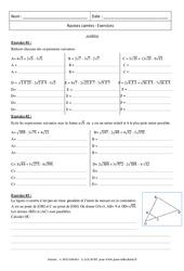 Synthèse – Exercices – Racines carrées : 3eme Secondaire