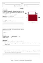 Problèmes – Système d'équation – Révisions : 3eme Secondaire