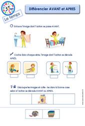Différencier AVANT et APRES – Le Temps : 2eme Maternelle – Cycle Fondamental