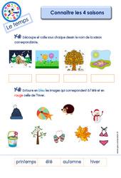 Connaître les 4 saisons – Le Temps : 3eme Maternelle – Cycle Fondamental
