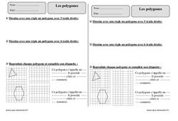 Polygones – Exercices à imprimer : 3eme Primaire