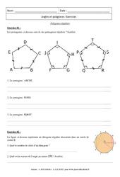 Polygones réguliers – Exercices : 3eme Secondaire
