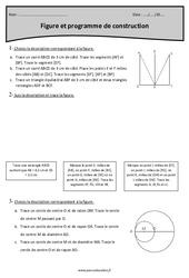 Programme de construction – Figures – Exercices à imprimer : 4eme Primaire