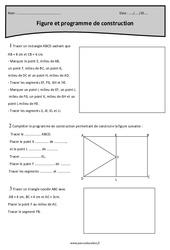 Figure et programme de construction – Exercices à imprimer : 5eme Primaire
