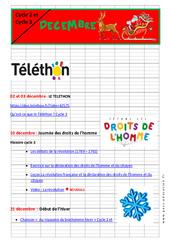 Noël – Dossier pédagogique : 2eme, 3eme, 4eme, 5eme Primaire