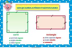 Quadrilatères particuliers – Affiche de classe : 1ere, 2eme Primaire