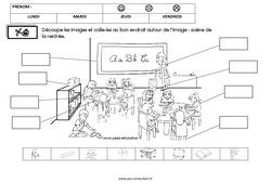 Scène et vocabulaire sur le thème de la «rentrée» : 2eme Maternelle – Cycle Fondamental