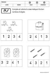 Mathématiques – Rentrée : 1ere Maternelle – Cycle Fondamental
