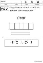 Ecriture – Rentrée : 1ere Maternelle – Cycle Fondamental