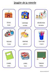 Scène et vocabulaire sur le thème de la «rentrée» : 3eme Maternelle – Cycle Fondamental