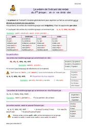 Présent des verbes du 3 ème groupe en – ir, – re, – oir, – dre – Cours, Leçon : 4eme Primaire