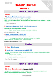 Semaine 5 – Cahier journal – PES – Stagiaires, jeunes profs… : 5eme Primaire