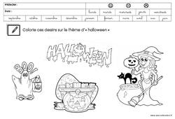 Coloriage thème Halloween : 3eme Maternelle – Cycle Fondamental