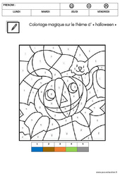Coloriage magique d'Halloween : 2eme Maternelle – Cycle Fondamental