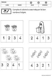 Mathématiques – Halloween : 1ere Maternelle – Cycle Fondamental