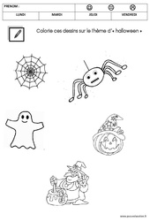 Coloriage thème halloween : 1ere Maternelle – Cycle Fondamental