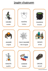 Imagier d'Halloween en 2 polices : 1ere Maternelle – Cycle Fondamental